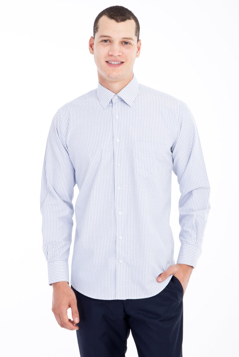 Kigili Mens Shirts Long Sleeve Solid Oxford Dress Shirt Skin-Frinedly High Quality Male 'S Casual Regular Slim Fit Tops Button Down