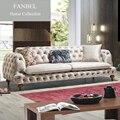 FANBEL Furiniture conjunto único frame de madeira da cadeira do sofá sala luxo Pakko