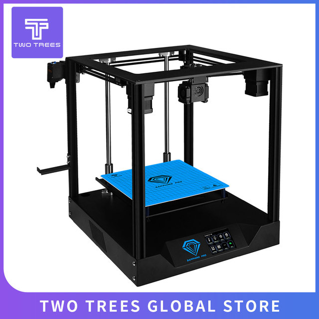 EU RU Warehouse TWO TREES 3D Printer Sapphire Pro Core XY BMG Extruder High precision DIY Kits 3.5 inch touch screen MKS TMC2208