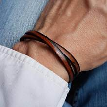 Bracelet en cuir pour hommes, avec message à graver, prénom, date... Bracelet à offrir pour fête des pères