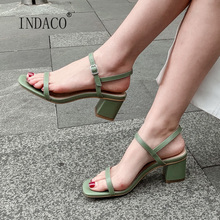 Women Sandals High Heel Summer Shoes Leather Stripper Heels Open Toe 2020