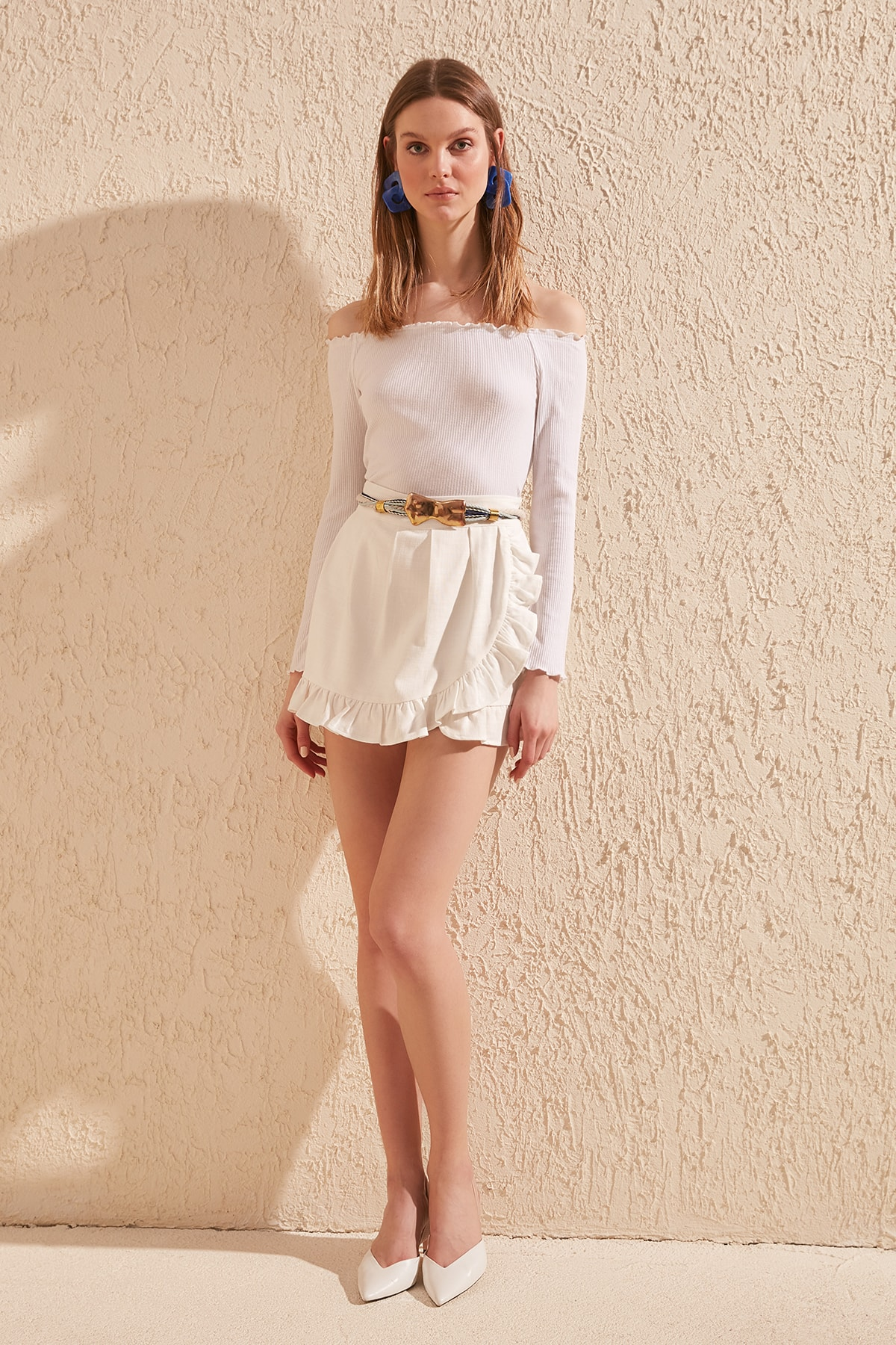 Trendyol Frilly Skirt Shorts & Bermuda TWOSS20SR0021