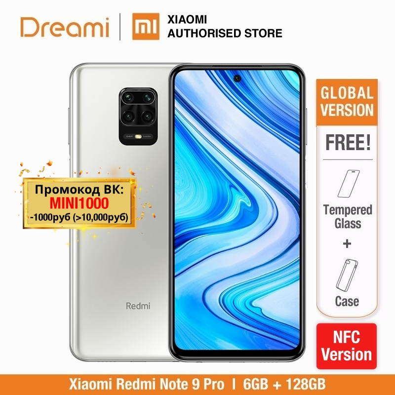 Xiaomi Redmi Note-9 Pro-6gb-Ram 128GB Nfc Adaptive Fast Charge Fingerprint Recognition