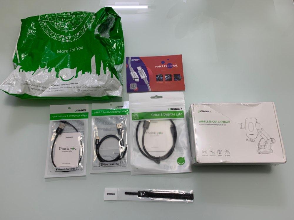 Ugreen Qi chargeur sans fil de voiture pour iPhone X XS 8 Samsung S9 chargeur de téléphone portable chargeur rapide sans fil sup