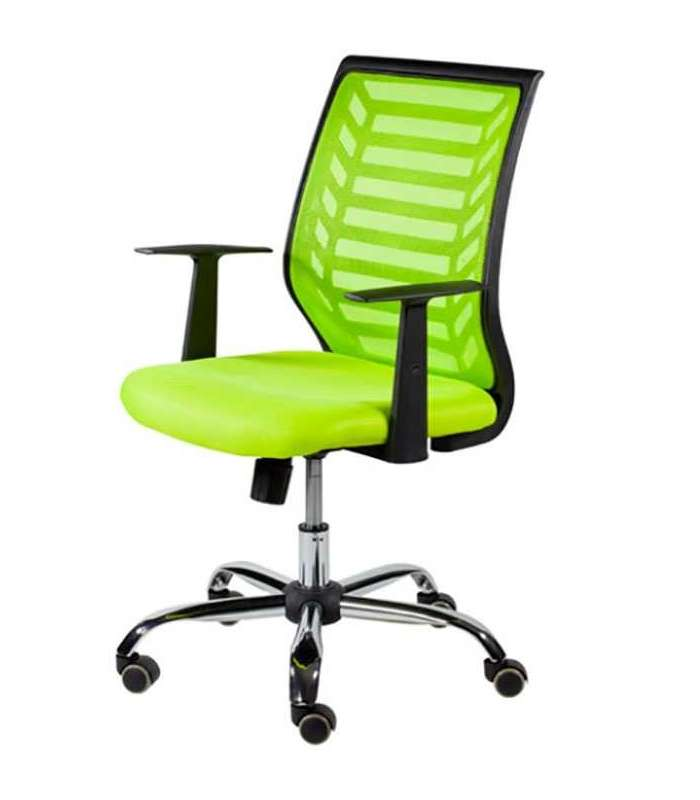 Swivel Chair Gas With Arms Lime Green