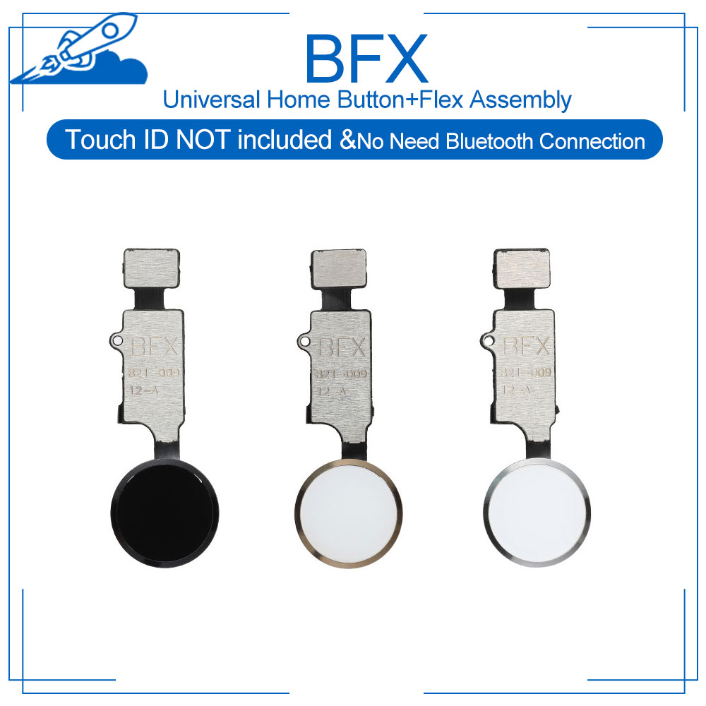 BFX Universal Home Button Flex Assembly Replacement For IPhone 7 7P 8 8P Return Back Not Include Touch ID Not Need Bluetooth