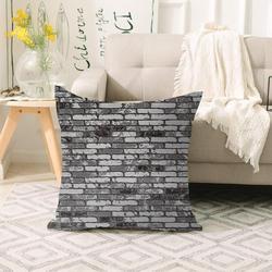 Else czarna szara ściana z cegły kamień Vintage 3d Print Sofa duża poduszka case podłogowe poszewki na poduszki ukryty zamek błyskawiczny 70x70cm|Poszewka na poduszkę|   -