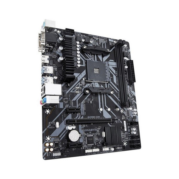 Gaming Motherboard Gigabyte B450M S2H mATX DDR4 AM4