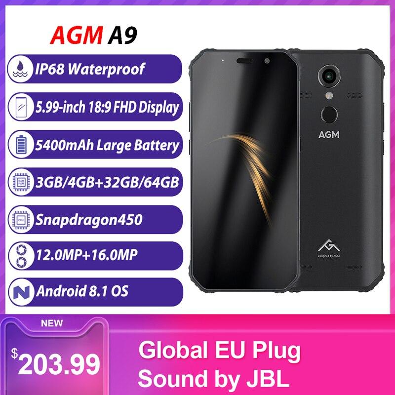 AGM A9 Robuuste 4G Mobiele Telefoon IP68 Waterdichte 4GB 64GB 5.99inch Snapdragon 16 + 12MP 5400mAh NFC Vingerafdruk Smartphone-in Mobiele Telefoons van Mobiele telefoons & telecommunicatie op AliExpress - 11.11_Dubbel 11Vrijgezellendag 1