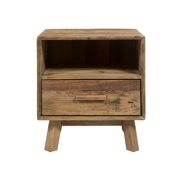 Nightstand (55 X 45 X 62 Cm) Recycled Wood