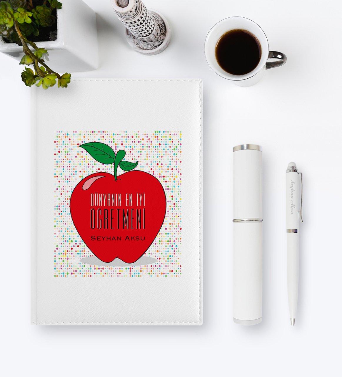 Personalized World Best Teacher 2020 Leather Organizer & Pen Gift Set-11