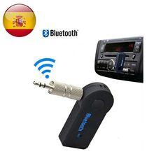Receptor de Audio Inalámbrico Bluetooth BT 3,0 Conector Aux Mini Jack de 3,5mm Manos Libres Coche Batería Integrada Negro