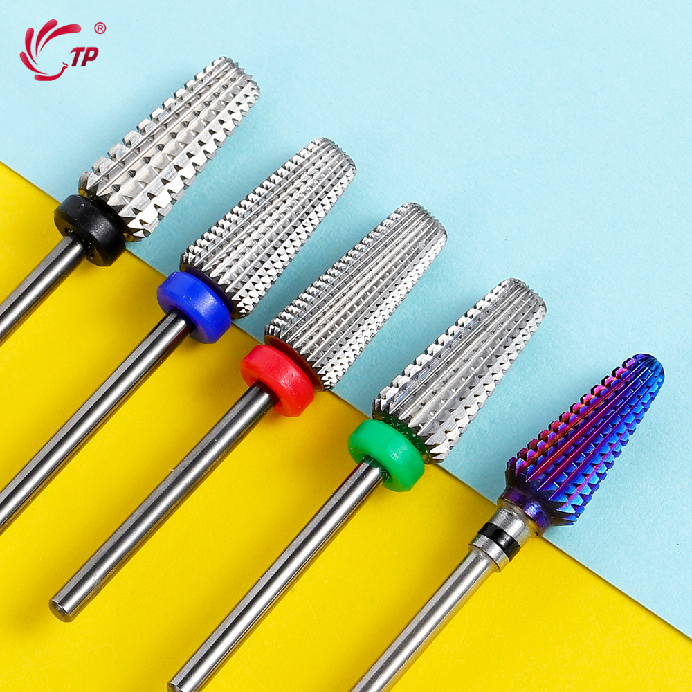 Tungsten 5 In 1 Nail Drill Bits Primary Color Nail Mills Cutter Nails Accessories For Electric Nail Drill Machine Polish Tools