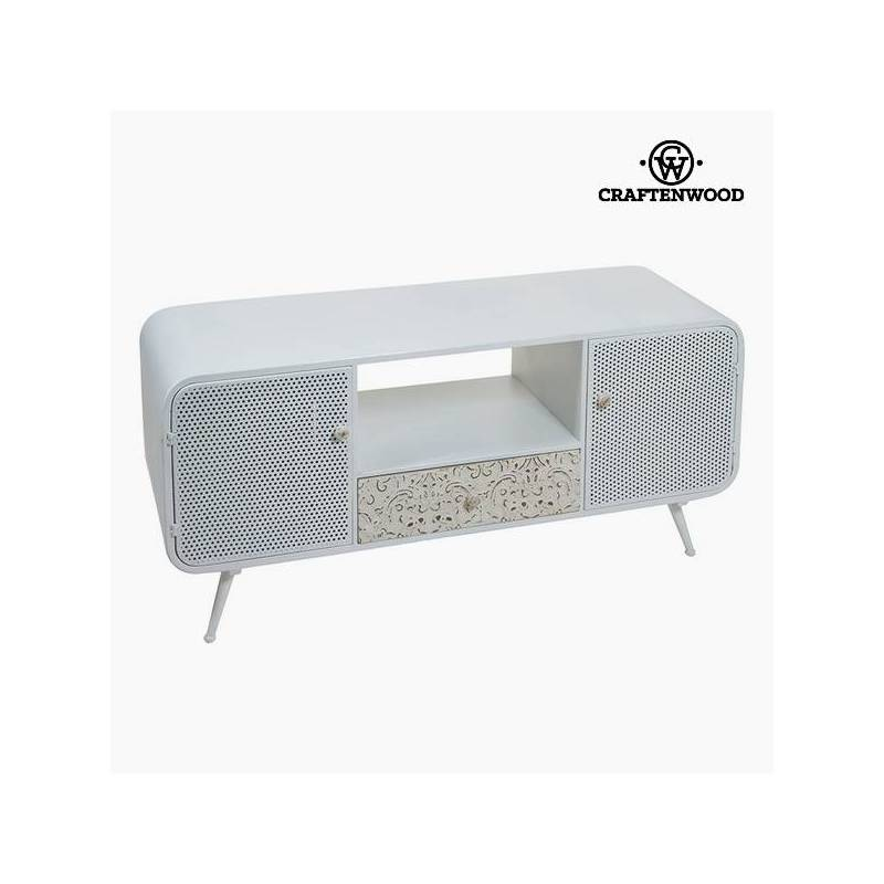 Table For TV (120x40x54 Cm) Spruce Wood White