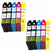 10 cartriges T1281 T1282 T1283 T1284's T1291 refill Compatible for printer Model Epson Stylus SX430W