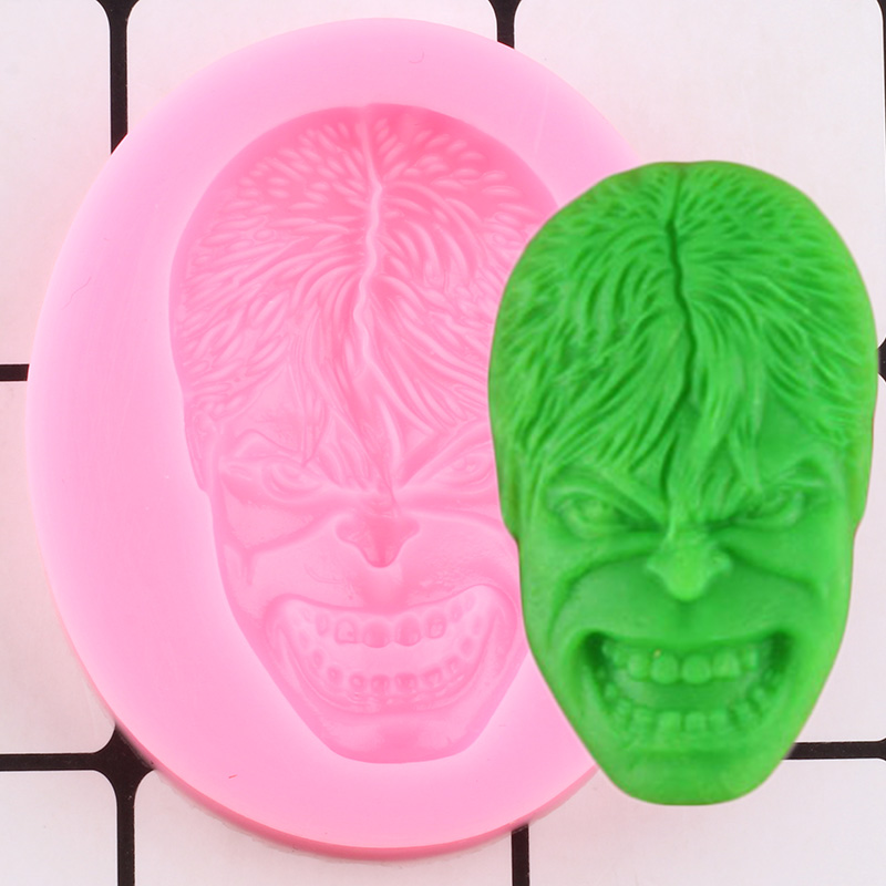 3D Hulk Figure Silicone Mold DIY Party Cake Decorating Tools Cupcake Topper Fondant Molds Candy Resin Clay Chocolate Molds