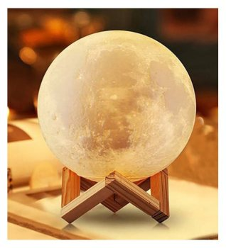 3D Decorative Moon Lamp with stand. led lamp  desk lamp  night light bedside lamp