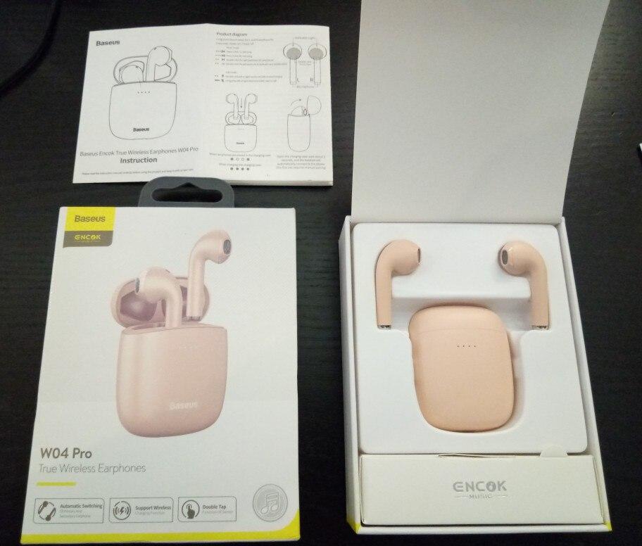 Baseus W04 Sports tws Wireless Headphones Bluetooth Earphone 5.0 In Ear Headset Handsfree Mini True Wireless Earbuds for Phones|Bluetooth Earphones & Headphones|   - AliExpress
