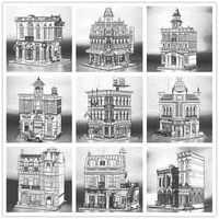 H&HXY DHL en STOCK 15001, 15002, 15003, 15004, 15005, 15006, 15007, 15008, 15009, 15010, 15011, 15015, modelo de Casa de bloques de construcción ladrillos Juguetes