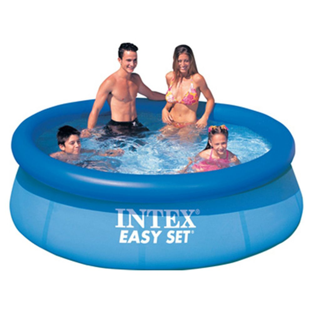 Intex Swimming Pool Inflatable Easy Set 244x76 Cm, Blue