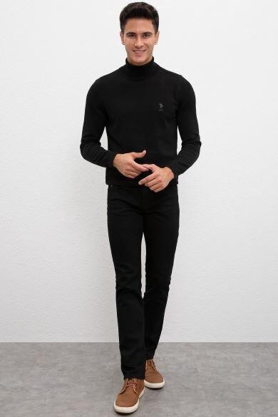 U.S. POLO ASSN. Black Straight Denim Pants