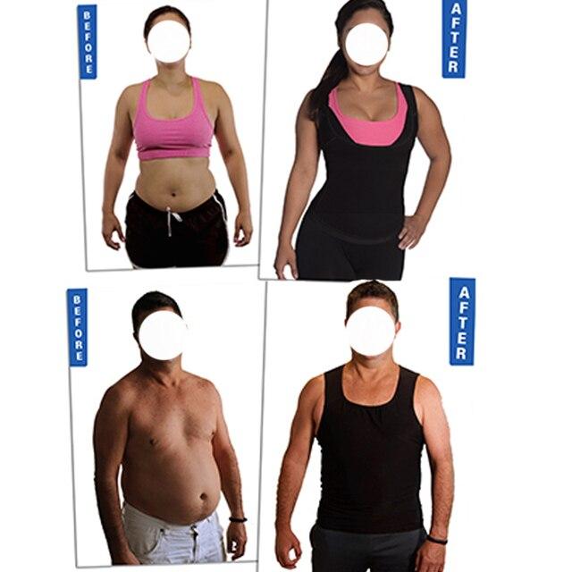 Sweat body Shaper Vest Men Women Gym Fitness Advanced Sweatwear Suit Weight Loss Black Fat Burning Sauna Vest  Dropshipping 4