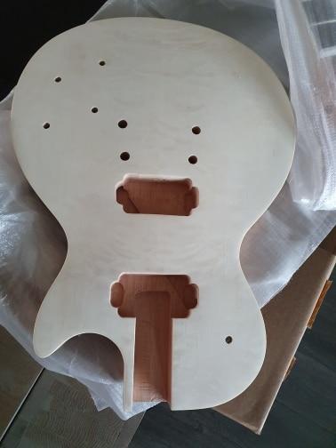 Electric DIY Guitar Building Kit LP Style photo review