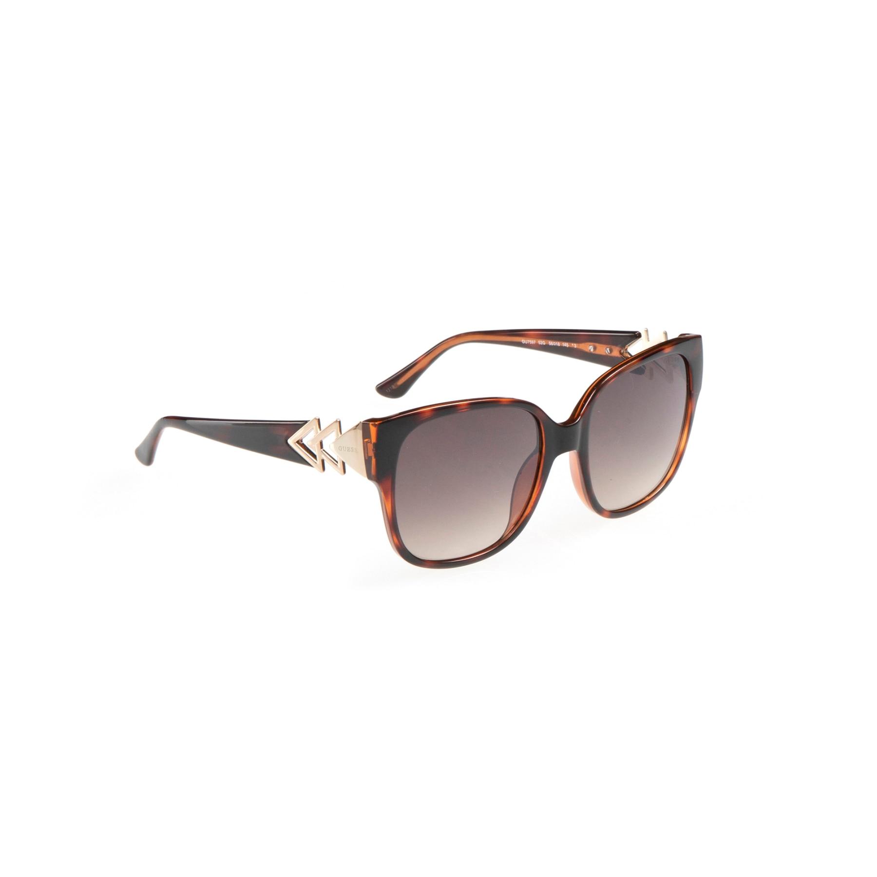 Women's sunglasses gu 7597 52g bone Brown organic square square 56-18-145 guess