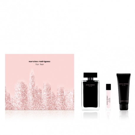 NARCISO RODRIGUEZ FOR HER EDT SPRAY 100ML + BODY LOTION 75ML + SHOWER GEL 75ML