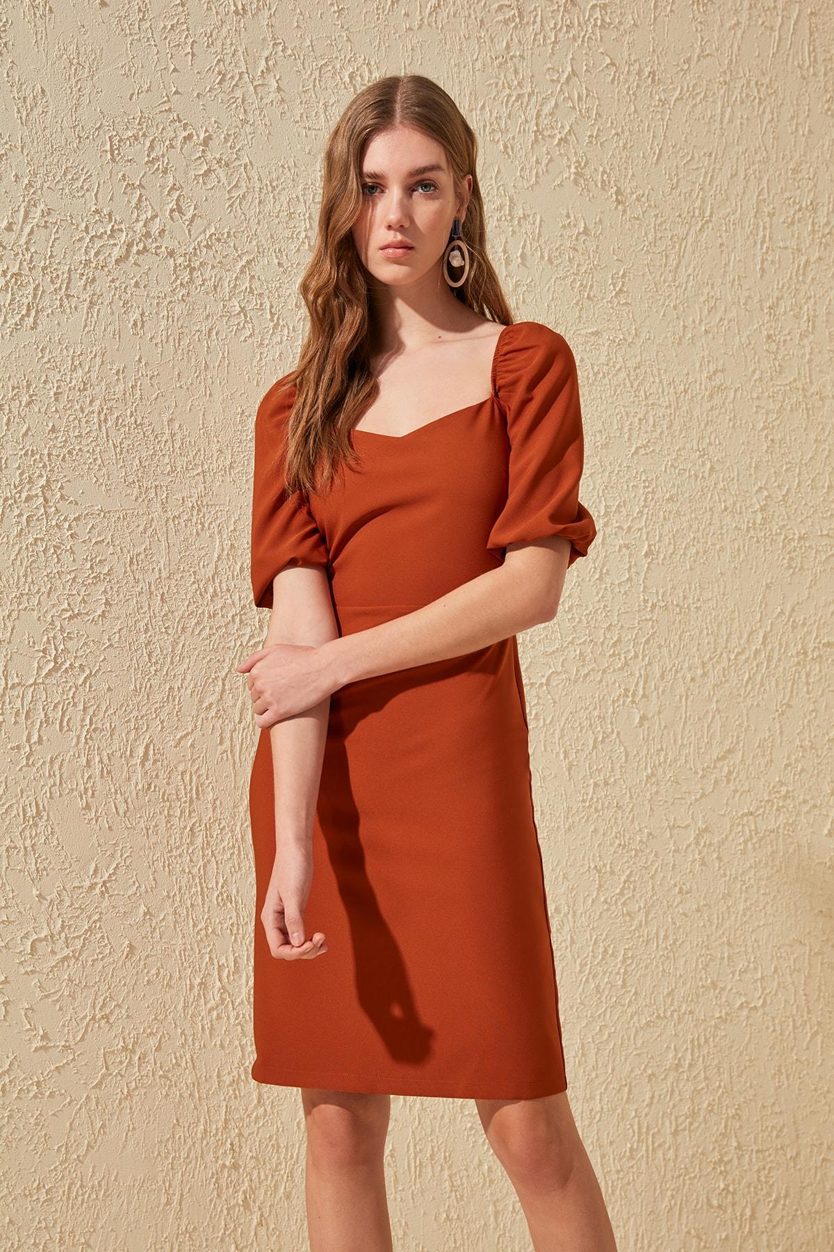 Trendyol Square Collar Dress TWOSS20EL0239