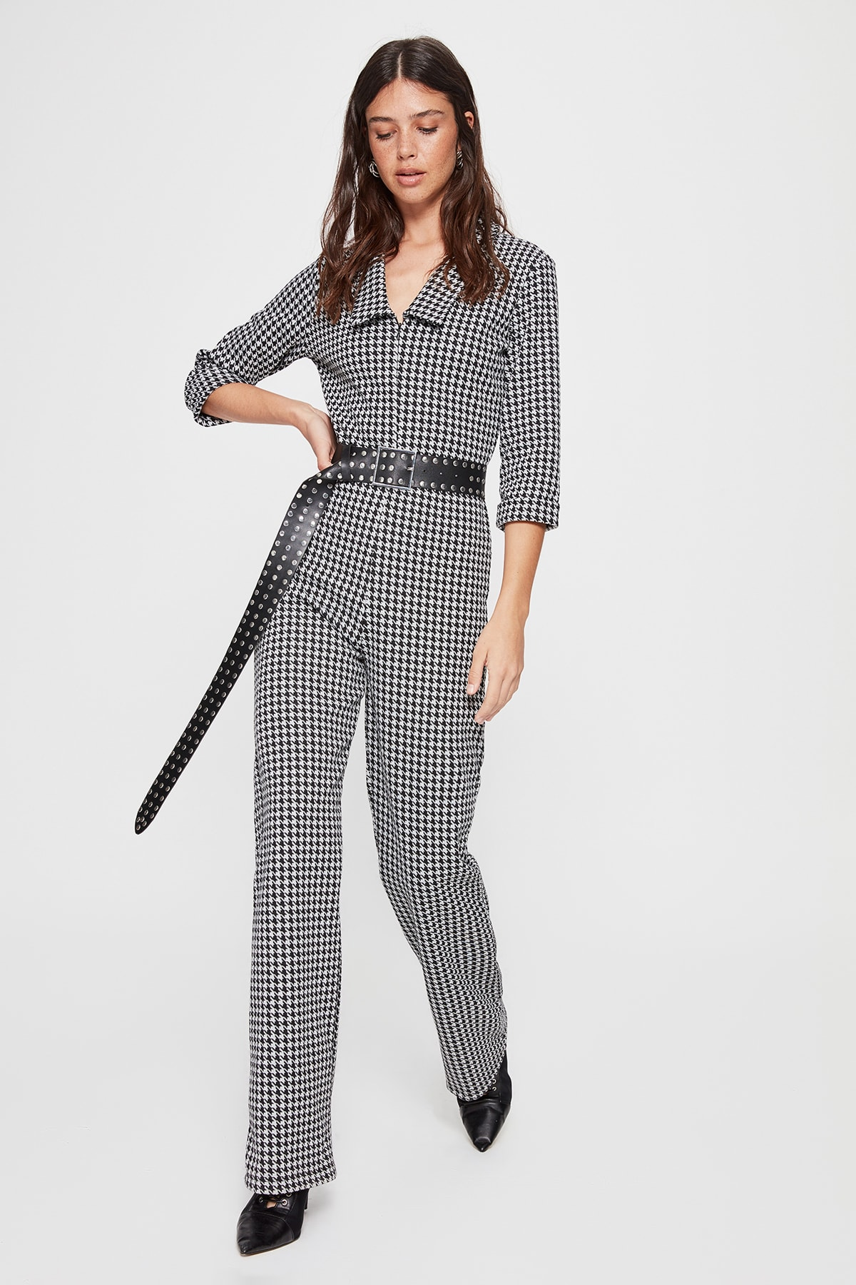 Trendyol Crowbar Patterned Knitted Jumpsuit TWOAW20TU0089