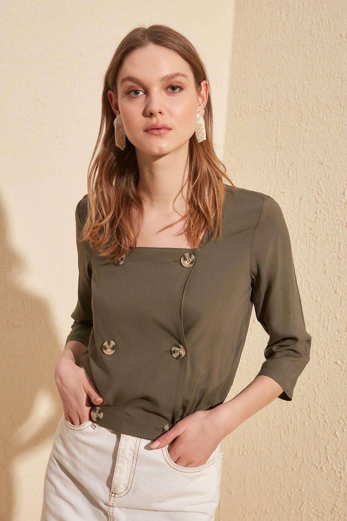 Trendyol Button Detail Bluz TWOSS20BZ0339