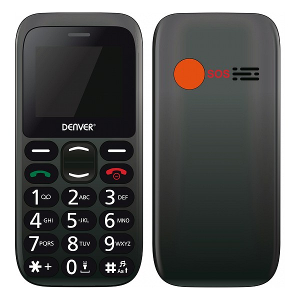 Mobile Telephone For Older Adults Denver Electronics BAS-18300M 1,77