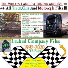 Rimappe auto camion moto 1TB Chip Tuning file 800GB DAMOS(Edc17)Immo Off cr v2 Ecm Titanium Dpf Egr Lambda Remover Winols Ec