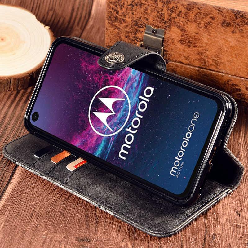 Lật Bao Da Cho Motorola 1 Hành Động Lưng Sách Ốp Lưng Chống Sốc Ốp Lưng Nắp Motorola 1 Hành Động Nhà Ở Vỏ