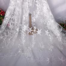 Stars Lace Fabric - Ivory/Pink/Purple Star Fabric, Embroidered Stars Tulle Fabric, Wedding Dress Fabric 57 Width 1 Yard kipr ivory charcoal fabric artisan cube pouf