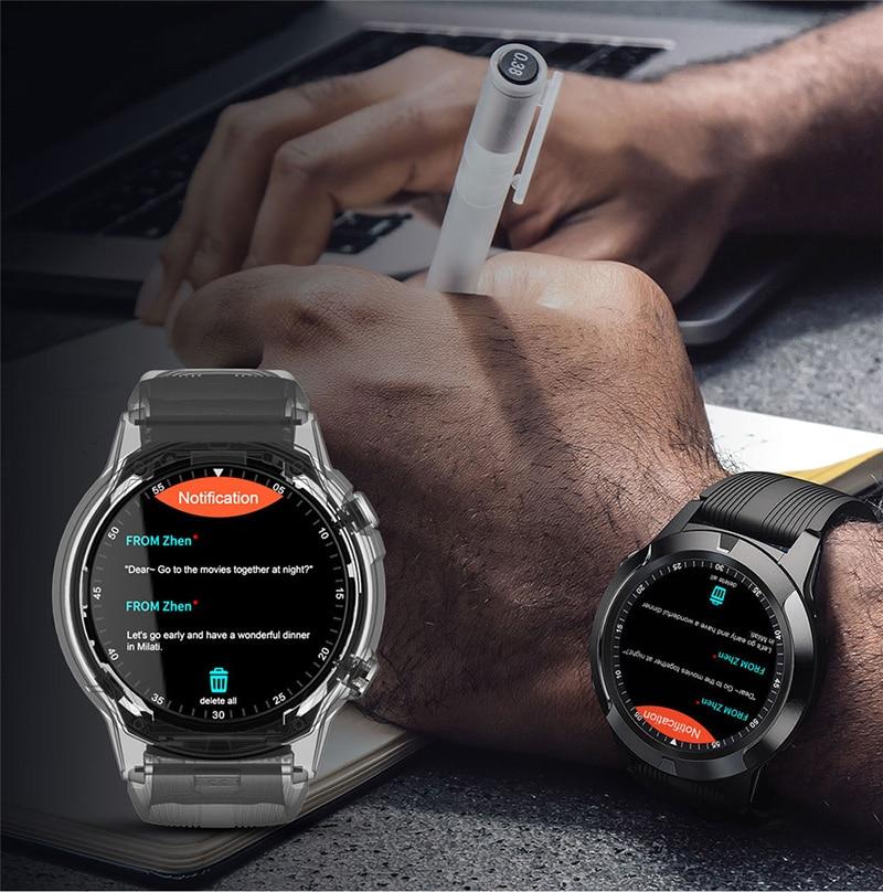 Relógio inteligente masculino feminino toque relógio à