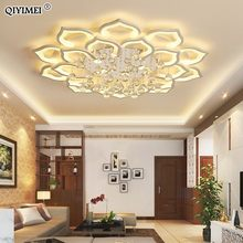 White Acrylic Modern Chandelier Lights For Living Room Bedroom remote control Led indoor Lamp Home dimmable Lighting Fixtures de(China)