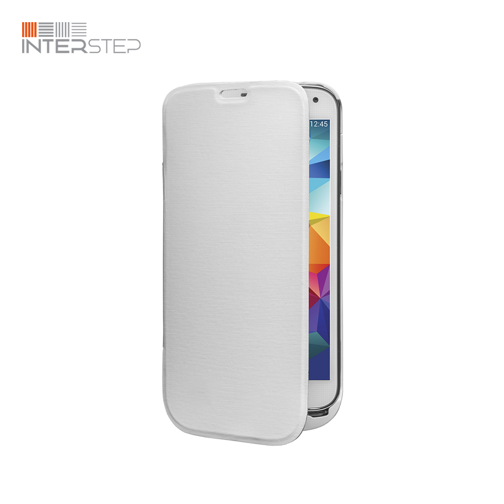 Case battery INTERSTEP For Samsung Galaxy S5, 2800 mAh, White stylish flip open pu tpu case w stand display window wake up for samsung galaxy s5 pink