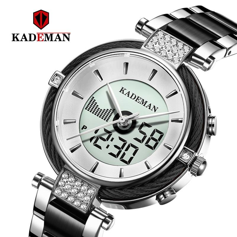 KADEMAN White Black Watch Women Watch Ladies Creative Steel Women's Bracelet Watches Female Clock Relogio Feminino Montre Femme|Women's Watches| |  - title=