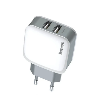 Сетевая зарядка Baseus Letour Dual U Charger+3-in with 1 cable