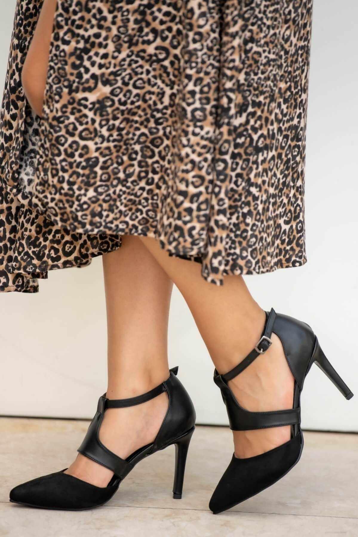 """Elsa Đen Gót Giày Đế bằng Dây Cột Nữ Giày Nữ Zapato de Mujer """"Tacon Giày Người Phụ Nữ Mỏng Gót Nhọn Nông Máy Bơm"""