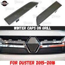 Czapki zimowe dla renault duster 2015 2018 na kratka na chłodnicę ABS plastikowa osłona osłona akcesoriów ochronna stylizacja samochodu tuning