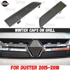 Image 1 - Winter Caps Voor Renault Duster 2015 2018 Op Radiator Grill Abs Plastic Guard Accessoires Cover Beschermende Auto Styling Tuning