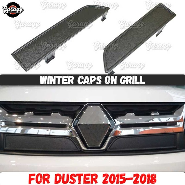 Winter Caps Voor Renault Duster 2015 2018 Op Radiator Grill Abs Plastic Guard Accessoires Cover Beschermende Auto Styling Tuning