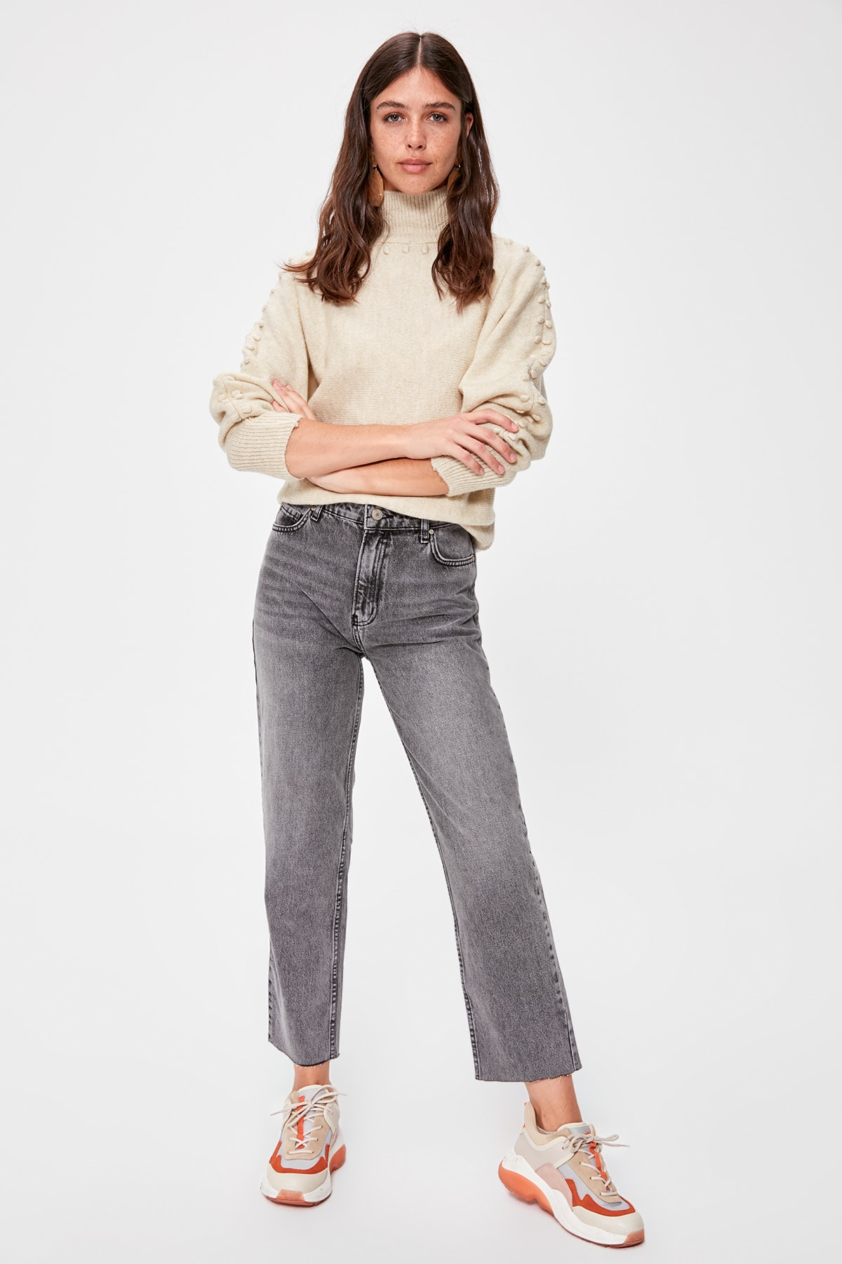 Trendyol-Flushing High Bel Straight Jeans TWOAW20JE0143