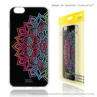 FunnyTech®Silicone Case for Wiko Sunny 3 L Design Mandalas Geometric vers.3 black background