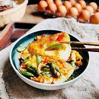 """#美食说出""""新年好""""#美味下饭的家常小炒,辣椒荷包蛋的做法图解12"""