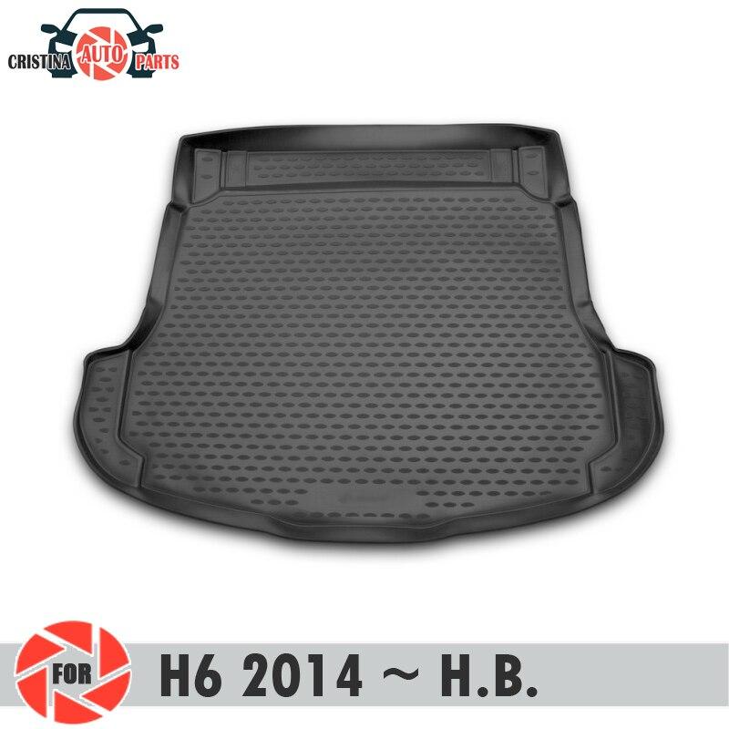 Mat tronco para HAVAL H6 2014 ~ 2019 trunk piso tapetes antiderrapante poliuretano proteção sujeira interior tronco car styling
