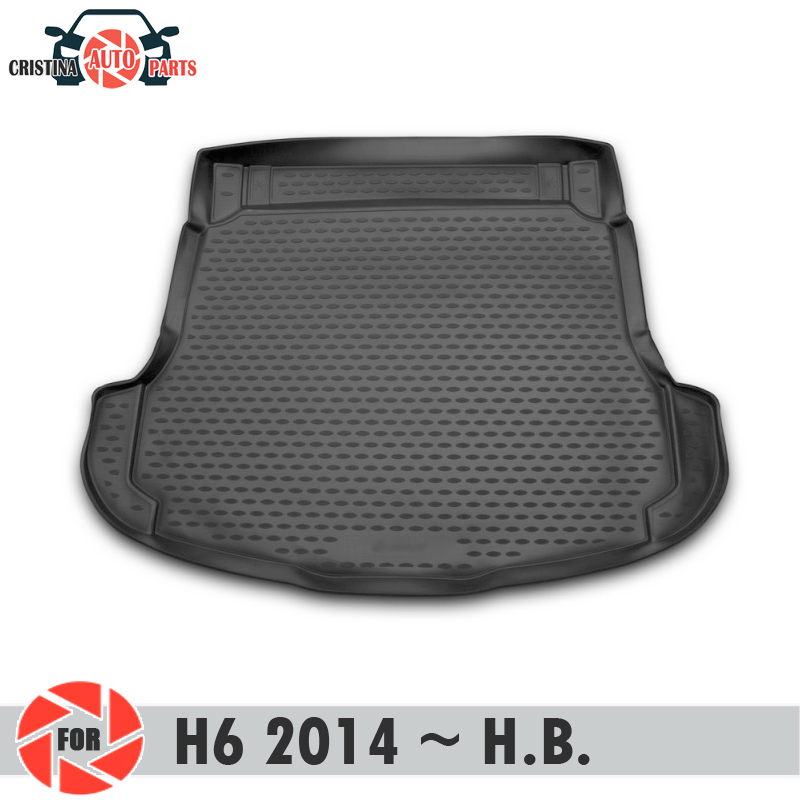 Trunk Mat For HAVAL H6 2014~2019 Trunk Floor Rugs Non Slip Polyurethane Dirt Protection Interior Trunk Car Styling
